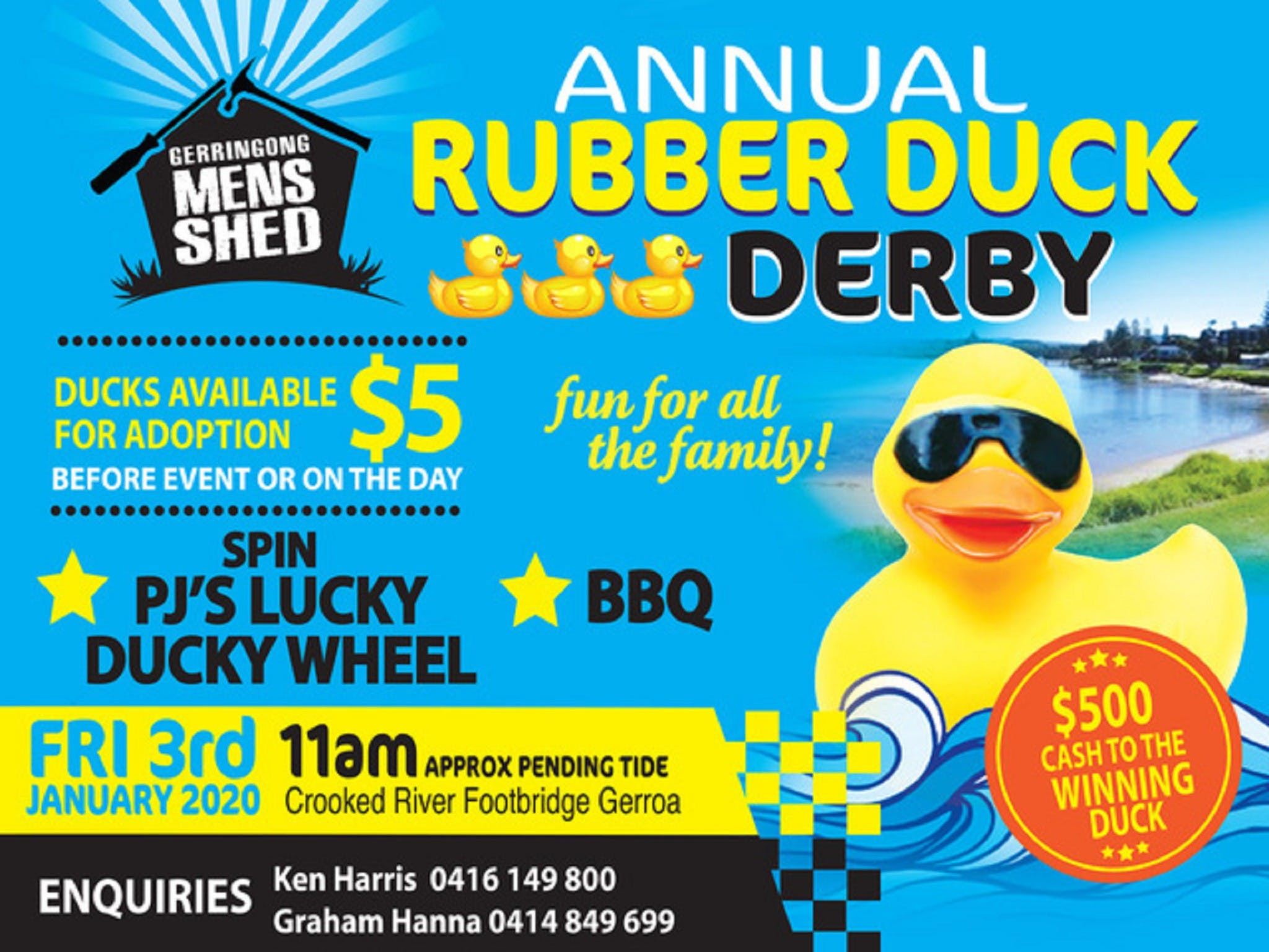 Gerringong Mens Shed Annual Duck Derby - Kempsey Accommodation