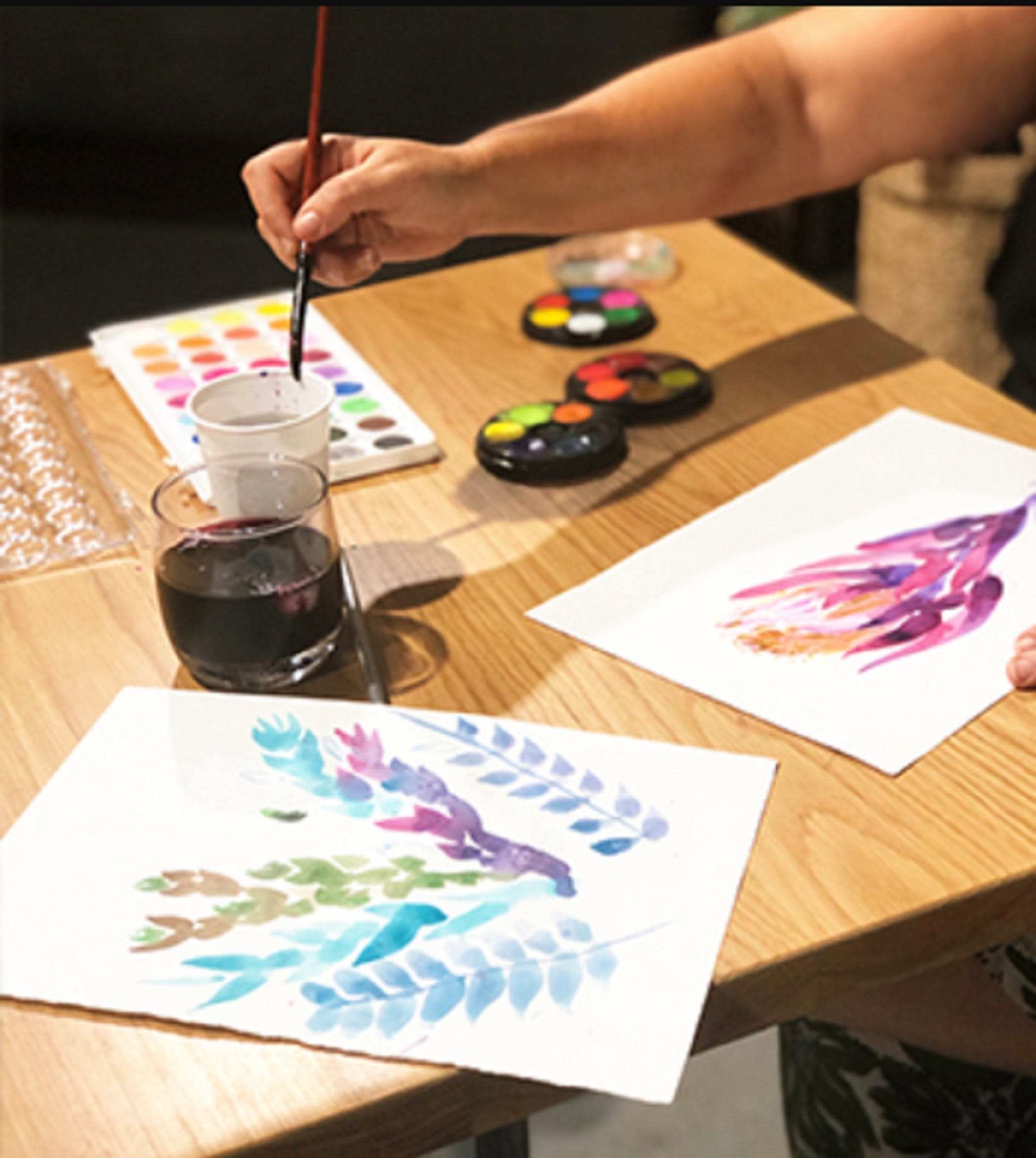 Paint and Sip Class Watercolour and Wine - Kempsey Accommodation