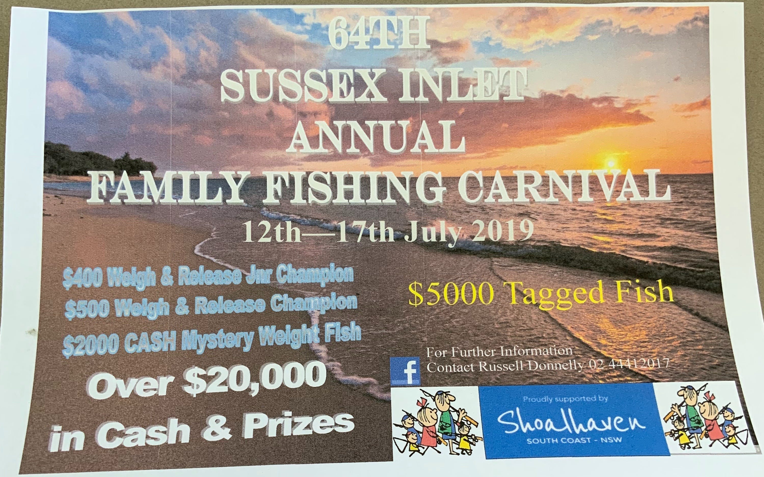 The Sussex Inlet Annual Family Fishing Carnival - Kempsey Accommodation